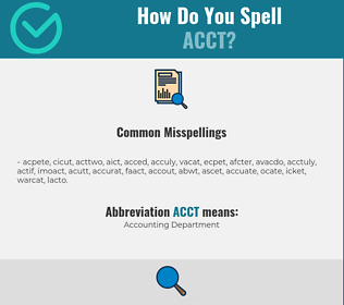 Correct spelling for ACCT