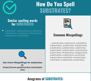 Correct spelling for substrates