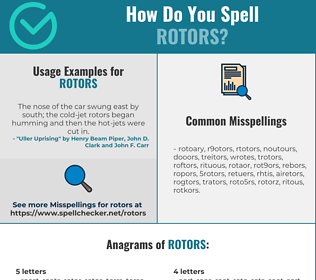 Correct spelling for rotors