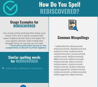 Correct spelling for rediscovered