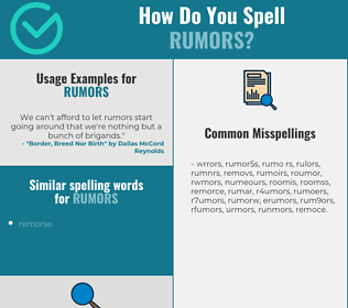 Correct spelling for rumors
