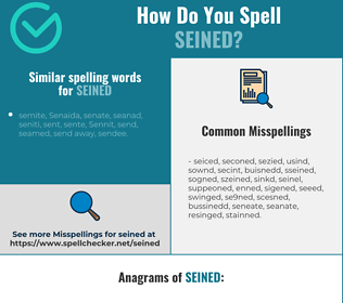 Correct spelling for seined