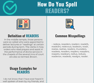 Correct spelling for readers