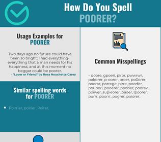 Correct spelling for poorer