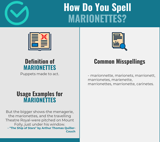 Correct spelling for marionettes