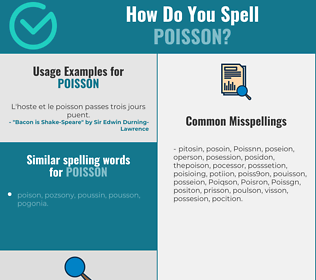 Correct spelling for Poisson