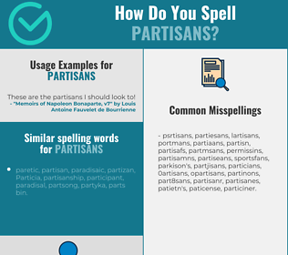 Correct spelling for partisans