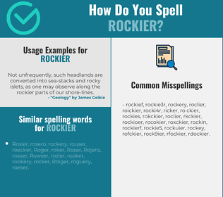 Correct spelling for rockier