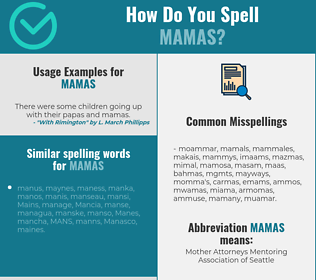 Correct spelling for mamas