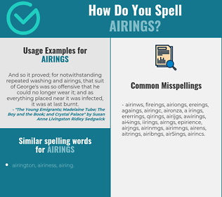 Correct spelling for airings