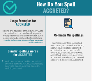 Correct spelling for accreted