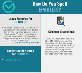 Correct spelling for epaulets