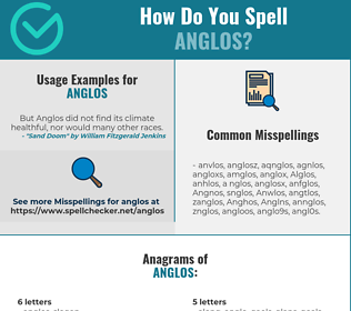 Correct spelling for Anglos
