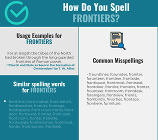 Correct spelling for frontiers