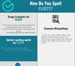 Correct spelling for flirty