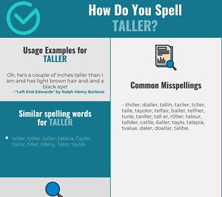 Correct spelling for taller