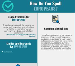 Correct spelling for Europeans