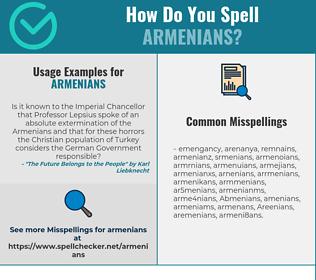 Correct spelling for Armenians