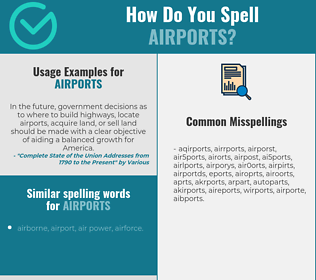 Correct spelling for airports