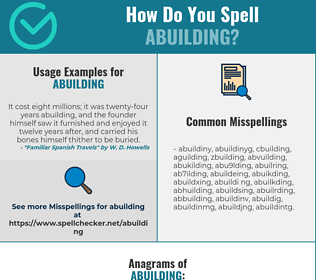 Correct spelling for abuilding