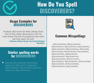 Correct spelling for discoverers