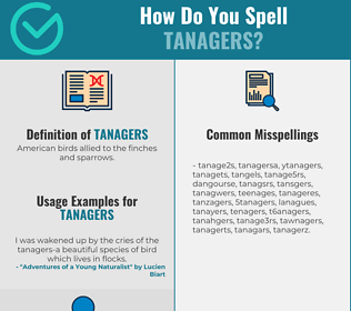 Correct spelling for tanagers