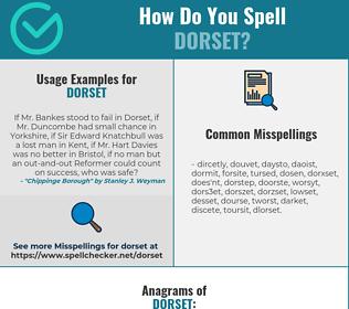 Correct spelling for Dorset