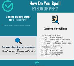 Correct spelling for eyedropper