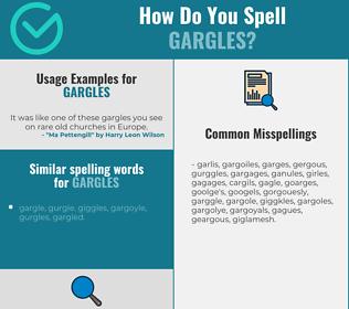 Correct spelling for gargles
