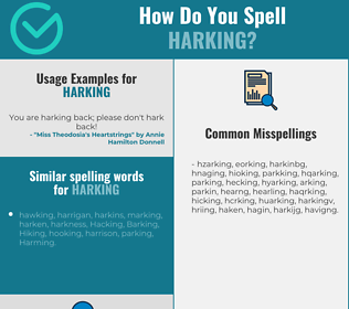 Correct spelling for harking