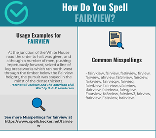 Correct spelling for Fairview