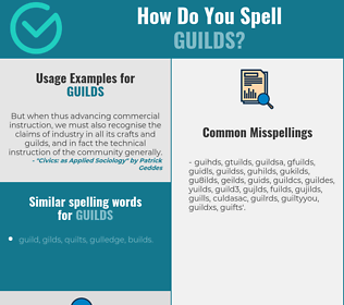 Correct spelling for guilds