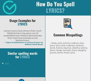 Correct spelling for lyrics