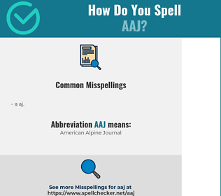 Correct spelling for AAJ