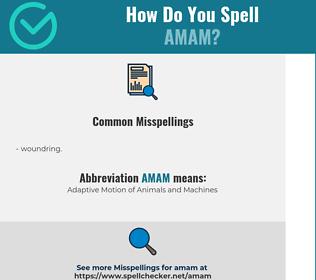 Correct spelling for amam