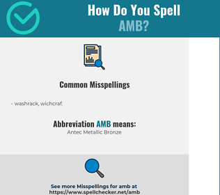 Correct spelling for amb