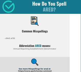 Correct spelling for ARED
