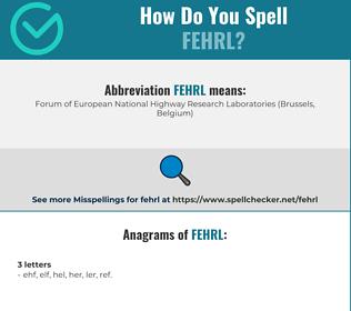 Correct spelling for FEHRL