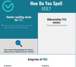 Correct spelling for feil