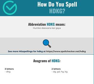 Correct spelling for HDKG