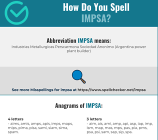 Correct spelling for impsa