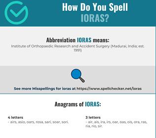 Correct spelling for ioras