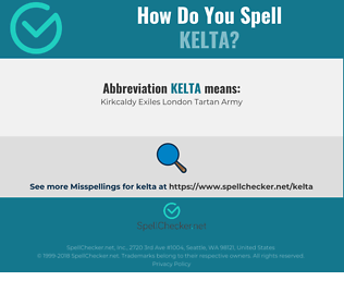 Correct spelling for KELTA