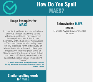 Correct spelling for MAES