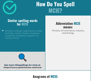 Correct spelling for MCIE