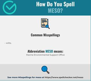 Correct spelling for meso