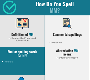 Correct spelling for mm
