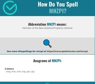 Correct spelling for MNZPI