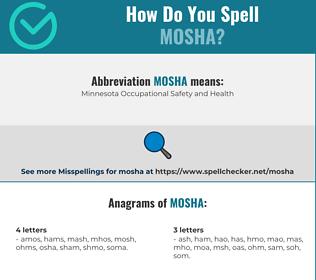 Correct spelling for mosha