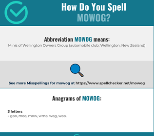 Correct spelling for MOWOG